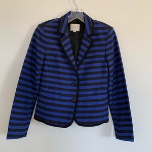 LOFT Textured Blazer Blue Black 4